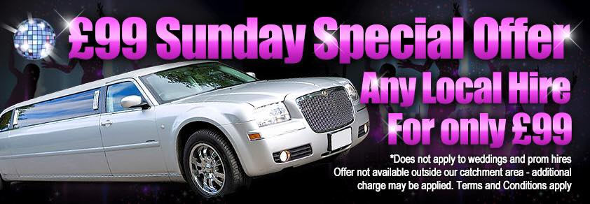 £99 Sunday Special Offer Limo Hire